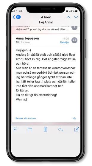 Hälsning till SMOC från Anders Jeppssons fru