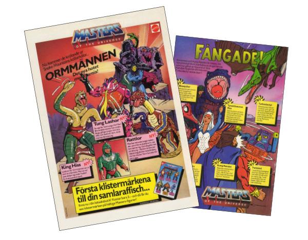 Serietidningsreklam Masters of the Universe illustrerade av Anders Jeppsson