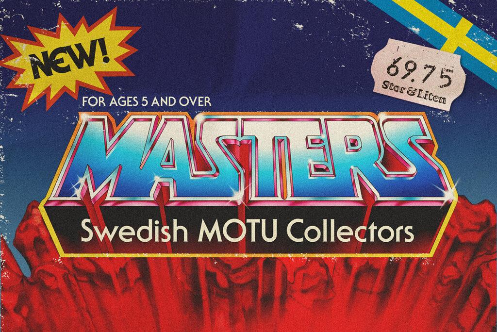 Swedish MOTU Collectors logotyp med svensk prislapp